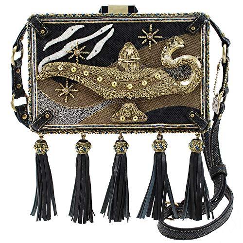 Mary Frances Disney Live Action Aladdin Genie Lamp Crossbody Handbag Purse, Gold
