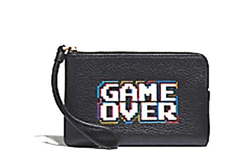 Coach Corner Zip Wristlet Pacman Game Over Motif in black 73399
