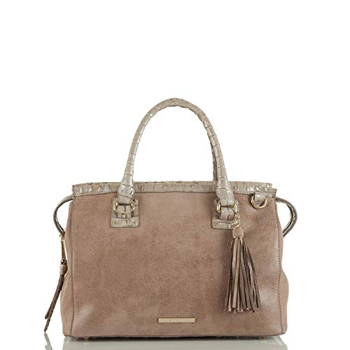 Brahmin Schooner Leather Shoulder Bag Grey