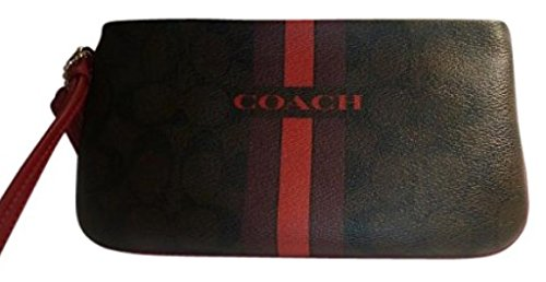 Coach Varsity Large Wristlet Brown True Red F66463