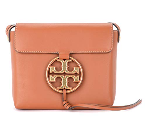 Tory Burch Tory Burch Miller Shoulder Bag In Brown Leather With Maxi Gold Logo Brown