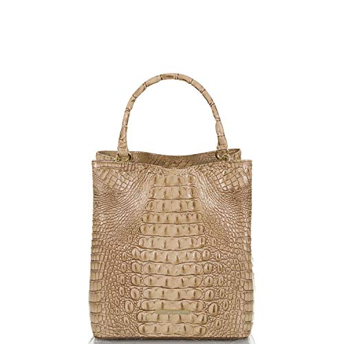 Brahmin Amelia Melbourne Bucket Bag Sand