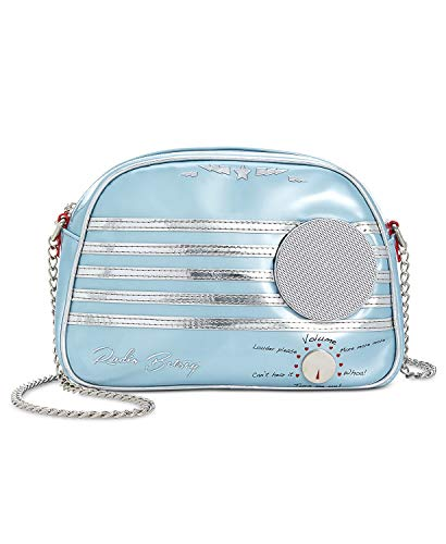 Betsey Johnson Kitsch Blue Retro Vintage Radio Real Working Wireless Speakers Shoulder Bag Crossbody