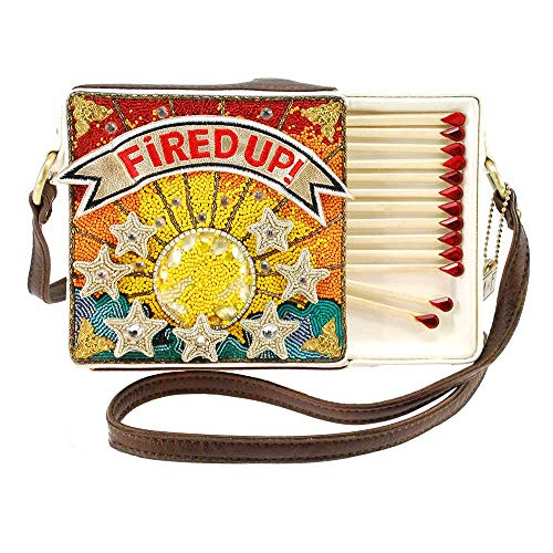 Mary Frances Fired Up Embellished Match Book Crossbody Handbag Purse, Multi