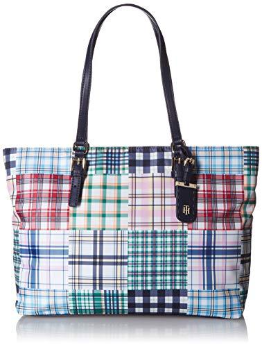 Tommy Hilfiger Tote Bag for Women Julia, Navy/Multi