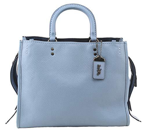 Coach Womens Rogue Pebbled Leather Satchel Shoulder Bag, Style 38124, Slate Blue