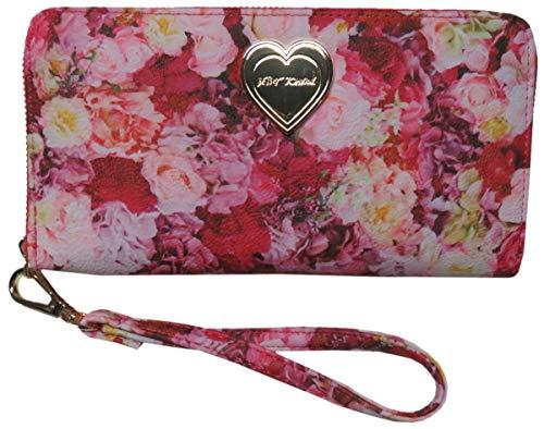 Betsey Johnson Women's Z/A Wristlet/Wallet, Pink/Floral