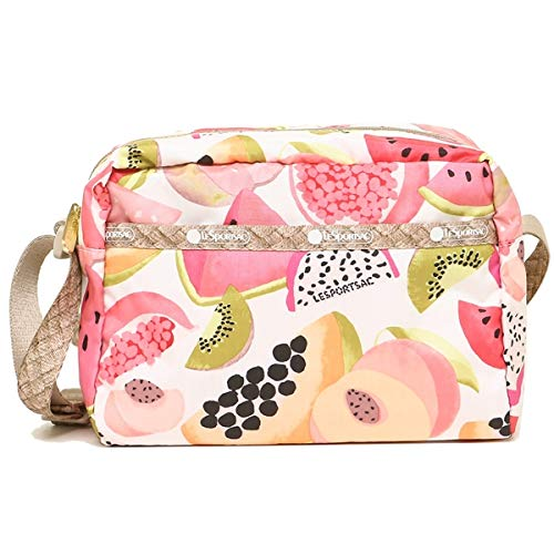 LeSportsac Palapa (Summer Fruits) Daniella Crossbody Handbag, (Two Tone Braided Strap Design), Style 2434/Color F094