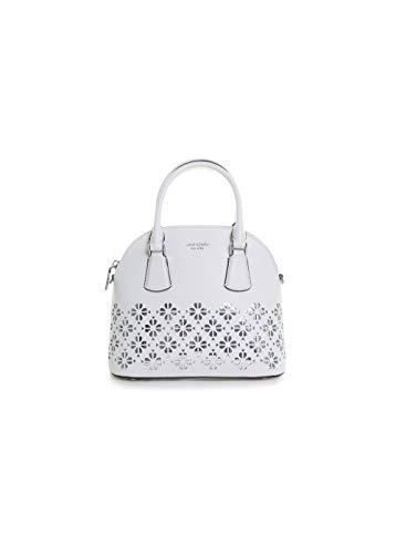 Kate Spade New York Sylvia Perforated Medium Dome Satchel Handbag in Optic White