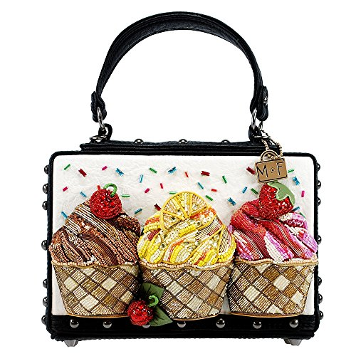 MARY FRANCES Baby Cakes Embellished Cupcake Theme Top Handle Novelty Handbag