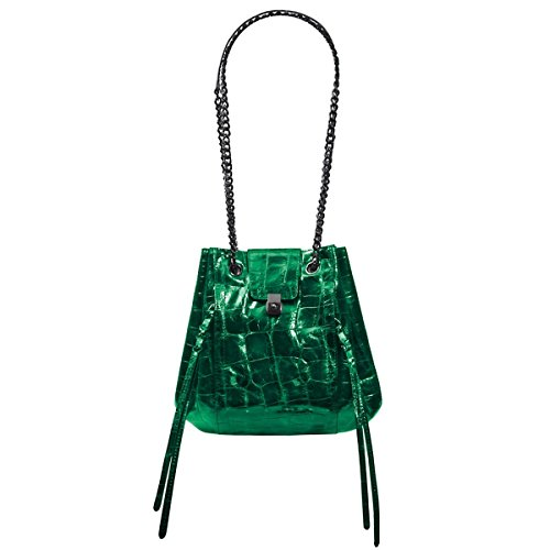 Eric Javits Luxury Fashion Designer Women's Handbag – Mini Leigh Handbag – Emerald
