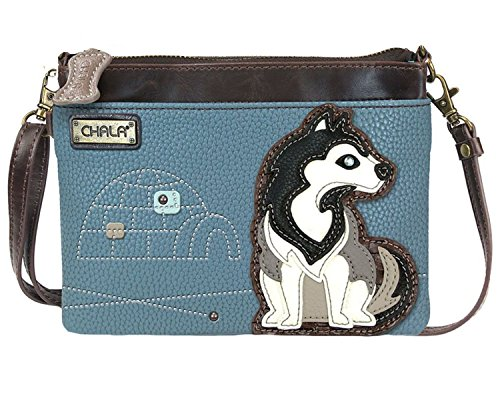 Chala Husky Mini Crossbody Handbag Purse Husky Mom