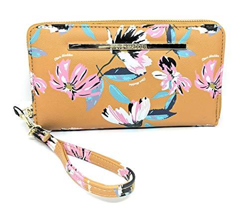Steve Madden Floral Zip Around Wallet/Wristlet (Mustard)