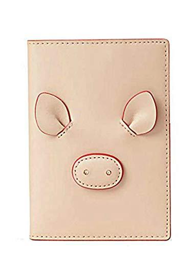 Kate Spade Year of the Pig Imogene Leather Passport Card ID Holder, Warmvellum, 5″x4″