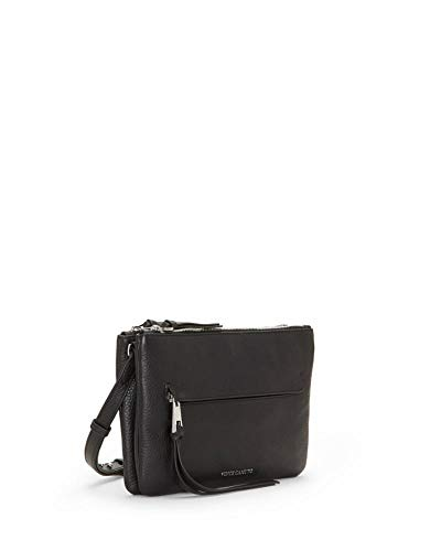 VINCE CAMUTO Gally Black Pebble Leather Crossbody