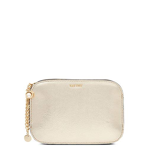 Nine West Women's Clutch Charm Chain Wristlet Small Handbag Platino