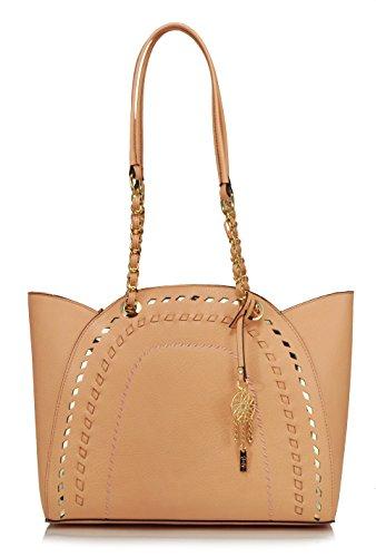 Jessica Simpson Gwen Tote Shoulder Bag, Peach