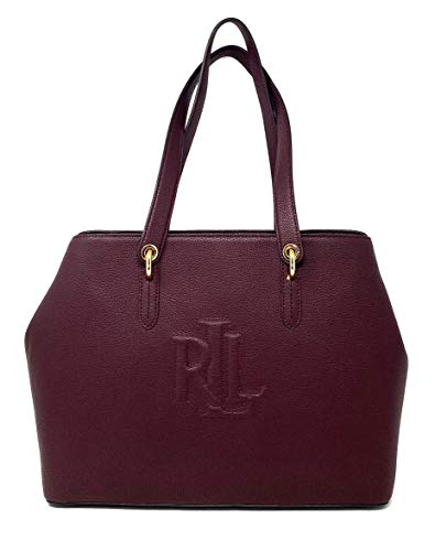 Ralph Lauren Fall 19 Top Handle Tote, Bordeaux/Plum