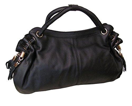 Musette Leather Handbag (#1899-0)
