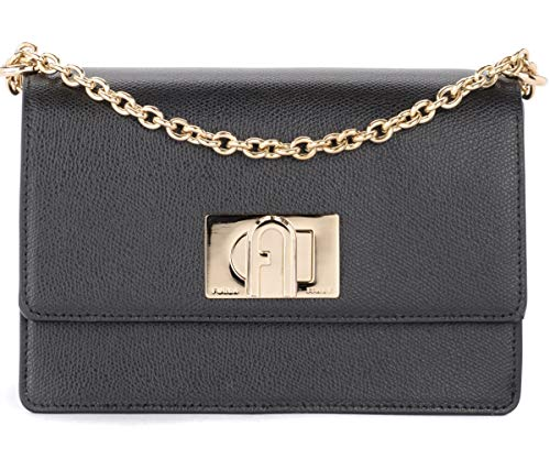 Furla Furla 1927 Shoulder Bag In Black Leather With Shoulder Strap Black