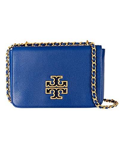 Tory Burch 55444 Britten Adjustable Shoulder Bag – Fresh Blueberry/Rolled Gold