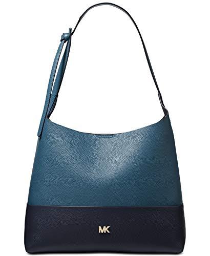Michael Kors Junie Bicolor Pebble Leather Hobo
