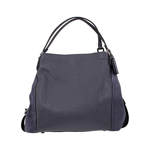 Coach Edie 42 Ladies Large Leather Shoulder Bag Black