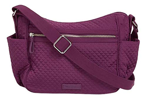 Vera Bradley Iconic On the Go Crossbody in Gloxinia Purple Microfiber