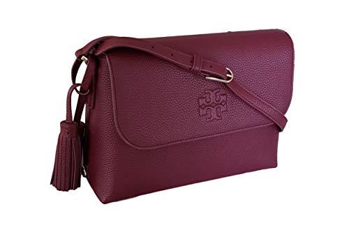 Tory Burch Thea Messenger Bag, Imperial Garnet