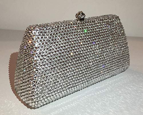 PLASTILINUM by Nib Crystal Evening Bag Clutch Hand Bag Made with Swarovski Element Ladder Shape Cool car Tuning Accessories