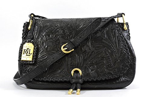 LAUREN Ralph Lauren Paulden Messenger,Black