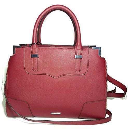 REBECCA MINKOFF Saffiano Red Amorous Satchel Tote Handbag