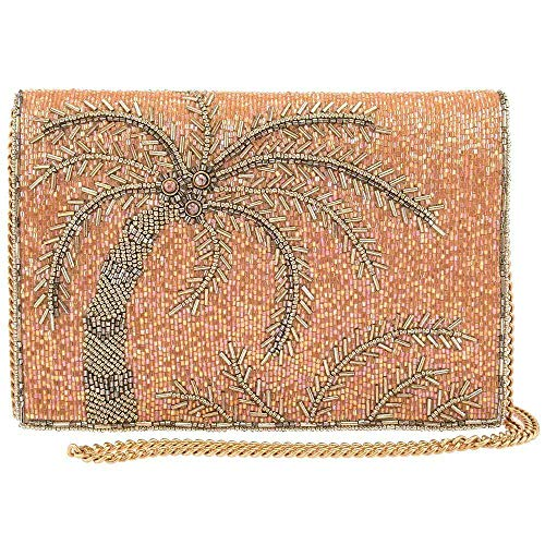 Mary Frances Tropical State of Mind Palm Tree Crossbody Handbag Purse, Pink