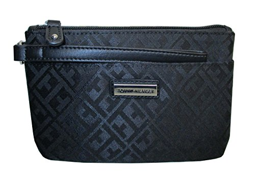 Tommy Hilfiger Wristlet Wallet Bag Black Canvas