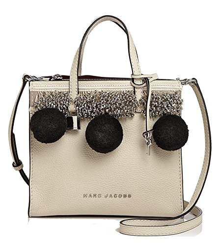 Marc by Marc Jacobs Mini Grind Beads and Pompoms Satchel Bag, Antique White
