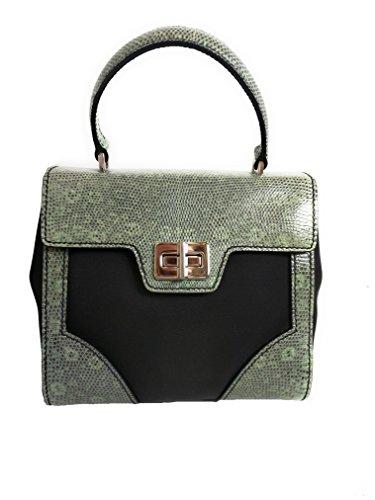Prada Women's Green Tessuto Lucerto Nylon and Leather Handbag 1BA014