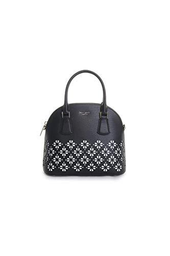 Kate Spade New York Sylvia Perforated Medium Dome Satchel Handbag in Black