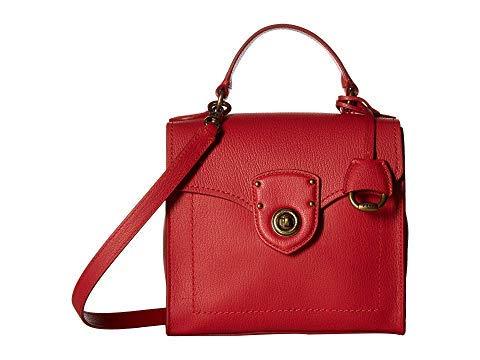 Ralph Lauren Millbrook Top Handle Satchel, Leather, Red, Medium