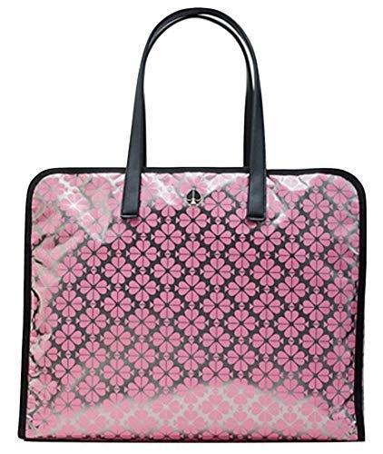 Kate Spade Morley XL Tote Bag Silver Multi Weekender Handbag