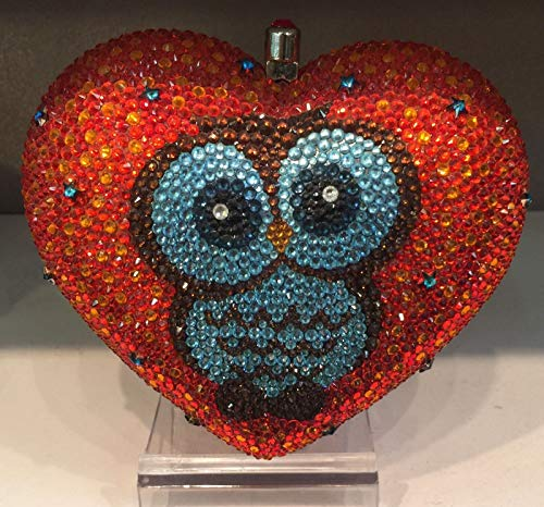 PLASTILINUM by Nib Crystal Evening Bag Clutch Hand Bag Made with Swarovski Elements Heart Owl Cool car Tuning Accessories