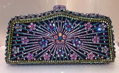 PLASTILINUM by Nib Crystal Evening Bag Clutch Hand Bag Made with Swarovski Elements Flower Cool car Tuning Accessories