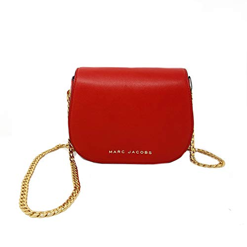Marc Jacobs M0014787 Smooth Leather Chain Strap Shoulder Bag, Lipstick Red