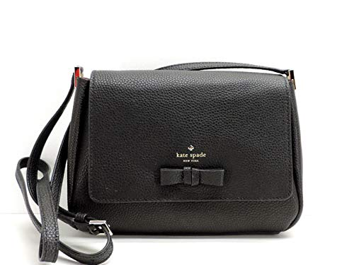 Kate Spade New York Pershing Street Avva Crossbody Handbag Black Leather