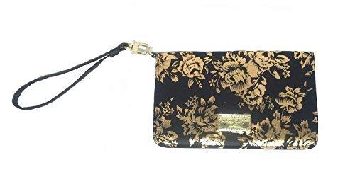 Betsey Johnson Black and Rose LBGLITZY Wristlet Handbag