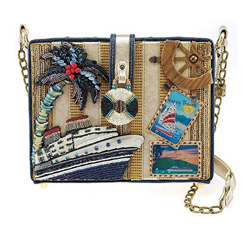 Mary Frances Embellished Cruise Travel Novelty Shoulder Handbag Purse, Multi