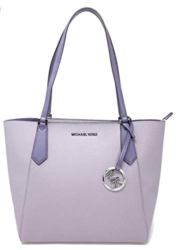 Michael Kors Small Bonded Kimberly Leather Tote Lilac Multi