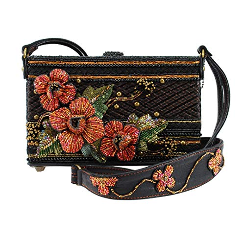 Mary Frances Hot Couture Hand Beaded Jeweled Sequined 3D Floral Handbag Shoulder Bag