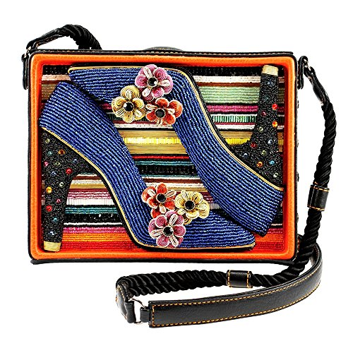 MARY FRANCES Obsession Beaded High Heel Shoebox Novelty Handbag