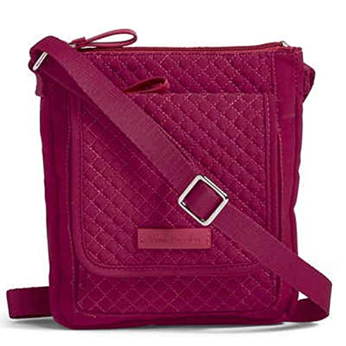 Vera Bradley Iconic RFID Mini Hipster in Microfiber Passion Pink