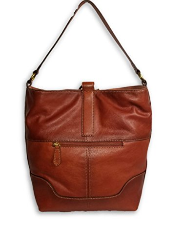 Frye Leather Ring Hobo Cognac, Large